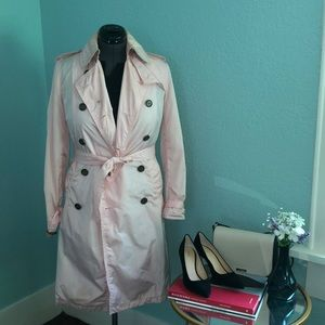 Pink Burberry Trench Coat